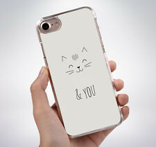 CUTE MEOW AND YOU CAT QUOTE Hard Phone Case Cover Fits Iphone (TH)