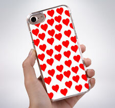 RED HEARTS PATTERNHard Phone Case Cover Fits Iphone (TH)