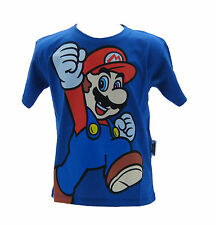 Camiseta Super Mario Bros Azul Real