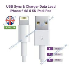 3M 2M 1M USB Lightning Sync & Charger Cable for Apple iPhone 5S 5C 6 6+ 7 & iPad