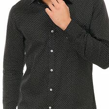 Variksh Cotton Casual Dot Printed Shirt For Men's