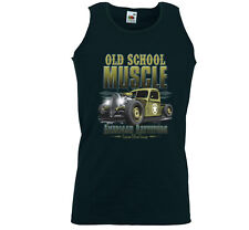 Hot Rod Tank Top Muskel Shirt Old School Muscle Rockabilly V8 Army