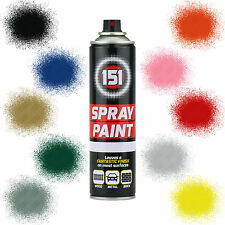 x3 Car Spray Paint Aerosol 151 Primer Matt Gloss Metallic Clear Lacquer 250ml
