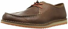 CLARKS MENS MAXIM EDGE BROWN LEATHER LACE UP SHOES UK SIZE 8.5 G