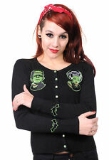 Frankenstein And Bride Black Gothic Psychobilly Cardigan By Banned Apparel