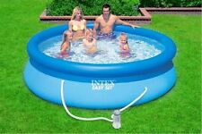 childrens kids paddling pool Inflatable summer garden pond swimming with pump UK