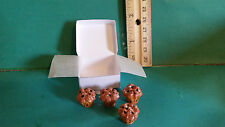Barbie 1:6 Kitchen Food Miniature Bakery Box of Blueberry Muffins aa