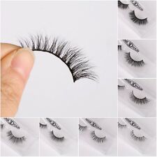 Mink Long Thick Natural Curling Fake False Eye Lashes Makeup Extend Cosmetics