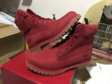 """Timberland 6"""" Inches PRM Ruby Red Waterproof Boots TB0A1JGJ Women"""