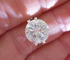 AVANT GARDE!  3.68 ct  VVS1 10.15 mm  ICY FIERY WHITE H-i LOOSE ROUND MOISSANITE