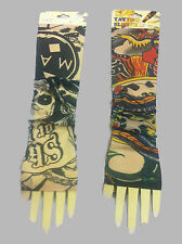 Tattoo Gloves, Arm Sleeves,Skin Cover for Sun Protection (Set Of 2 pair - 4 pcs)