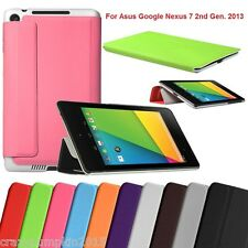 PU Leather Flip Case Book Cover Stand Folio For Asus Google Nexus 7 2nd Gen 2013