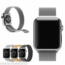 For Apple Watch 42mm/38mm Milanese Loop Stainless Steel Strap Band Magnetic Lock