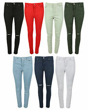 Women Stretch High Waisted Ripped Slim Fit Skinny Denim Jeans Jegging Pants 6-18