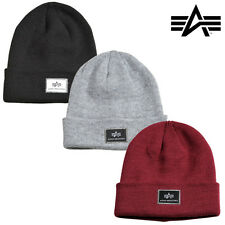 Alpha Industries GORRO BEANIE X-Fit Invierno MA1 Unisex Hombres Mujeres Nuevo