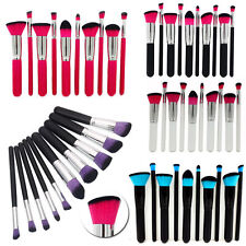10pcs KABUKI PROFESIONAL MAQUILLAJE BROCHAS SET BASE Colorete Polvos de kit