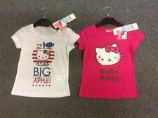 Hello Kitty Short Sleeved T shirt White Cerise 6 years 8 years 10 y 12 y