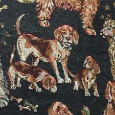 Dog Print (Black) Tapestry Curtain Upholstery Tapestry Fabric 140cm wide