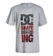 DC SHOES TOWER SKATEBOARDING YOUTHS  T SHIRT HEATHER GREY