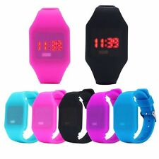 Perfect Gift Mens Womens Silicone LED Watch Sports Bracelet Digital Wrist WatchB