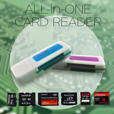 Portable 4 in 1 Memory Multi Card Reader USB 2.0 for SD/TF/M2 Card Multi Color