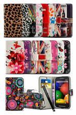 "Alcatel Pixi 4 (6.0"") 4G Dual SIM / 9001D Pattern Printed Book Case Wallet &Pen"