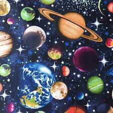 100% Cotton Planets Fabric Material (Nutex) sold by the metre