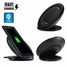 Qi Sans Fils Rapide Chargeur Recharge Pied Dock For Samsung Galaxy S6 S7 Edge S8