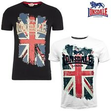 LONSDALE LONDON GB Camiseta Hombre Jacob Ajustado S M L Xl Xxl 3xl
