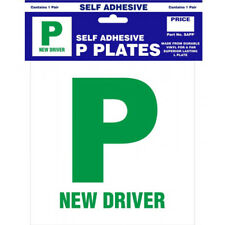 Self Adhesive P Plates - 1 Pair SAPP Castle New