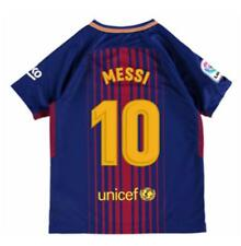 Nike FC Barcelona 2017/18 Youth Home Jersey Short Sleeve Messi 10 Blue/Red 1707
