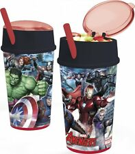 Drinks tumbler beaker cup and straw Princess Paw Patrol Marvel Avengers Minions