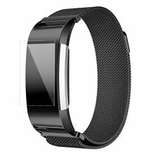 New Magnetic Milanese Loop Stainless Steel Watch Band Strap For Fitbit charge 2
