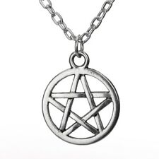 Pentagram Necklace Crystal Wiccan Pagan Gothic Witch Occult Boho Star Magic
