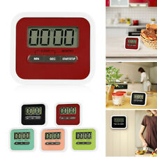 Magnetic LCD Digital Kitchen Timer Count Up Down Egg Cooking Alarm Clock US