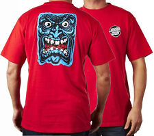 SANTA CRUZ  Rob Roskopp  Face Skateboard Tee Shirt RED - Retro '80s T Shirt