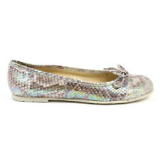 Versace 19.69 E08 PITONE MULTICOLOR Scarpe Ballerine donna Multicolore IT