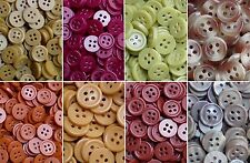 Small 11mm Orange Grey Brown 4 Hole Shirt Button Sewing Baby Child Craft (R1-R8)