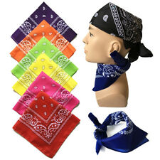 Cotton Womens Square Paisley Bandanas Head Band Neck Wrap Scarf Wristband