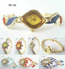 Women's Watches Pearl Ladies Watches for Girls Bracelet Fancy Vintage Watches