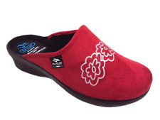 FLY FLOT L7947 WD ROSSO CIABATTE DONNA MADE IN ITALY SOTTOPIEDE ANATOMICO ZEPPA