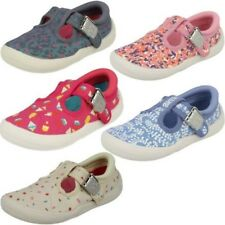 bambine Clarks lavabile in lavatrice T-Bar TELA Doodles - Briley FIOCCO