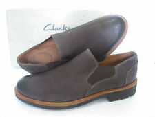 CLARKS WHALTON FREE EXTRA LIGHT BROWN LEATHER SHOES UK  SIZE 9 G