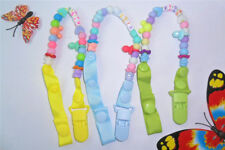 Unisex Kids Baby Chain Strap Holder Dummy Pacifier Soother Nipple Leash Clip WS