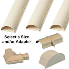 16mm x 8mm Magnolia Round D Trunking & Adapters–ADHESIVE BACKED–Cable Conduit