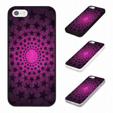 STAR PATTERN PINK FUNKY COOL TRENDY Rubber Phone Case Cover Fits Iphone Models
