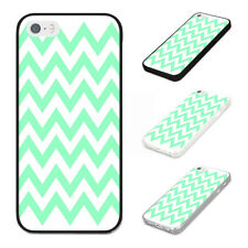 GREEN ZIG ZAGS FUNKY TRENDY DESIGN Rubber Phone Case Cover Fits Iphone Models