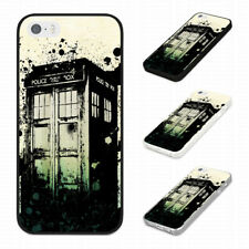 TRENDY POLICE BOX TARDIS Rubber Phone Case Cover Fits Iphone Models
