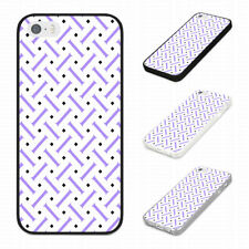 FASHION COOL PURPLE GEOMETRIC PATTERN Rubber Phone Case Cover Fits Iphone Models