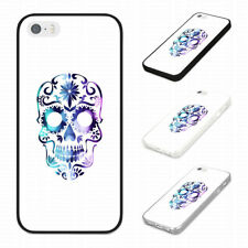 FUNKY TRENDY BLUE AND PURPLE SKULL Rubber Phone Case Cover Fits Iphone Models
